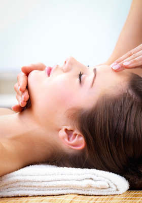 neck back massage, facial massage